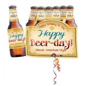 Folieballong - Happy Beer-day! Shape