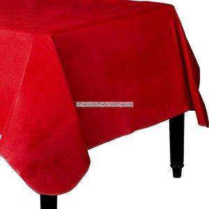 Äppleröd bordsduk i vinyl med baksida av flanell - 132cm x 228cm