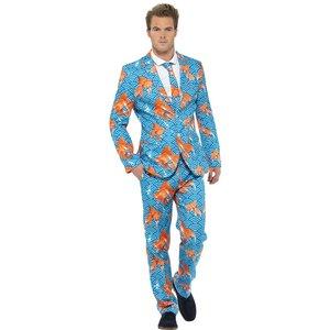Guldfisk Kostym - Blå Mönster
