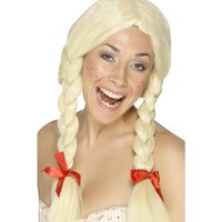 Tysk skolflicka peruk blond
