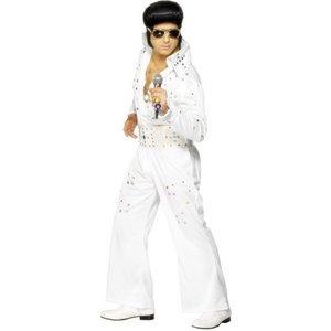 Elvis jumpsuit vit med juveler