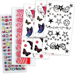 Stickers-set för naglar och kropp