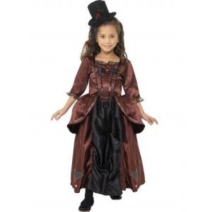 Vampyrdam maskeraddräkt för barn