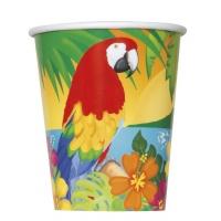 Pappersmuggar med papegojor - 27 cl 8 st