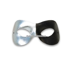 Domino svart & silverfärgad maskeradmask