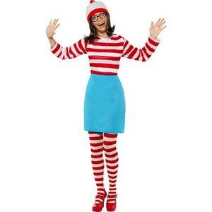 Wheres Wally maskeraddräkt kvinna