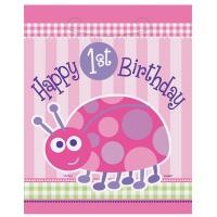Nyckelpiga 1-års födelsedag - Kalaspåsar i plast