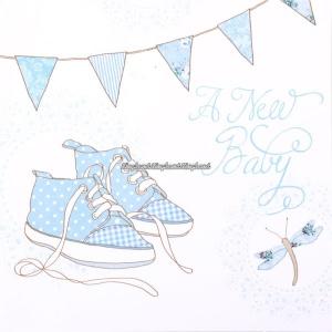 Baby födelse tillkännagivande pojke - kort - 6 st