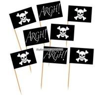 Piratflagg dekorationer - 50 st