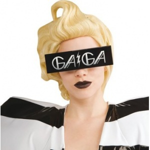 Glasögon Lady Gaga svart