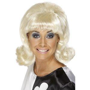 Blond 1960-tals Flick-Up peruk