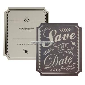 Save the date-kort med engelsk text - 10 st