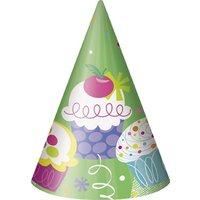 Partyhattar - Happy birthday cupcakes 8 st