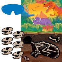 Förhistoriskt party - fäst dinosaurieskallen- spel