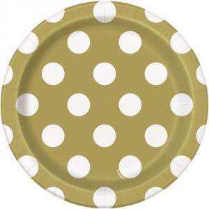 Guldiga prickiga assietter - 18 cm 8 st