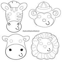 Safari äventyr partymaskar - 6 st