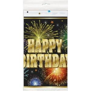 Bordsduk - Happy birthday fyrverkerier