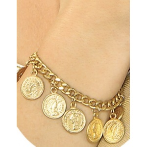 Guldmynt armband