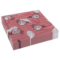 Angry birds rosa servetter - 2-lagers papper - 16 st