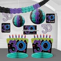 Dekorationssats till 30-årsdagen - The party continues - 10 st