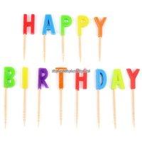 Happy birthday färgglada ljus - barn - 14 st