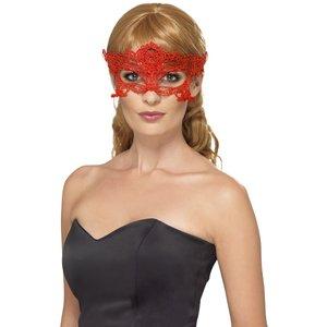 Maskeradmask - Röd