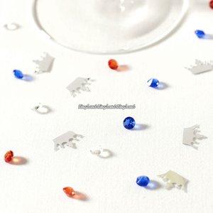 Kronor konfetti och kristaller - 28 g