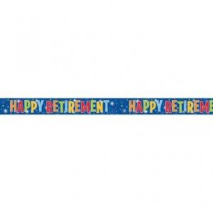 Festbanderoll i folie till firande av pension - 3,65m