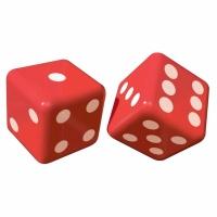 Casino uppblåsbara tärningar - 2 st