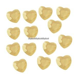 Guldfärgade bordsdiamanter - hjärtan - 21 g