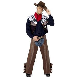 Cowboy maskeraddräkt brun