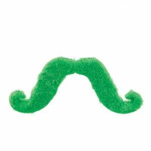 Grön mustache maskeradtillbehör