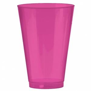 Ljusrosa dricksglas i plast 414 ml - 36 st