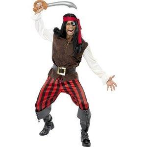 Pirat skeppare maskeraddräkt