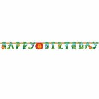 Djungeldjur bokstavsbanderoll till födelsedagen - 3m
