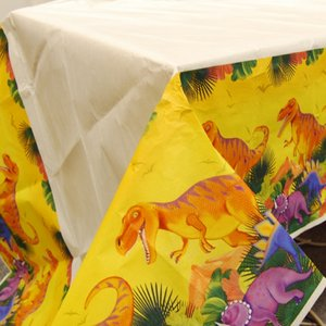 Förhistoriskt party - bordsduk i plast till festen