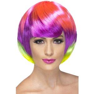 Peruk Funky Babe flerfärgad