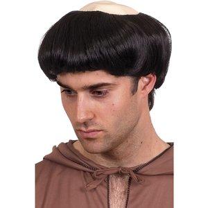 Munk peruk svart