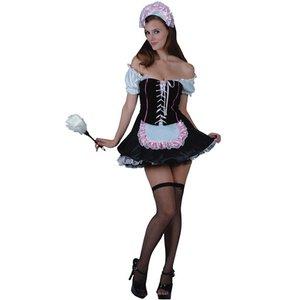 French Maid med huvudbonad - maskeraddräkt