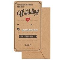 Bröllopsinbjudningskort engelsk text - 10 st