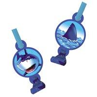 Blå haj kalastutor - 8 st