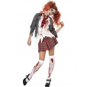 Zombie skolbarn maskeraddräkt