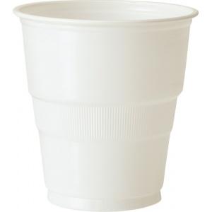 Vita plastmuggar - 27 cl 12 st