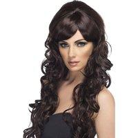 Popstjärna peruk, brun