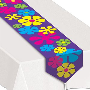 Bordslöpare blommig retrostil