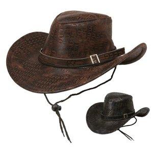 Cowboyhatt ormskinnsmönstrad