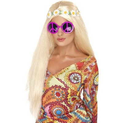 Rosa Peace-tecken solglas�gon