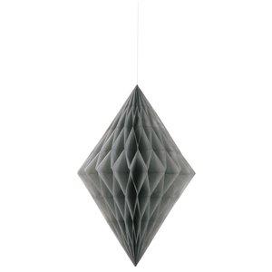Honeycomb diamant - Silvrig
