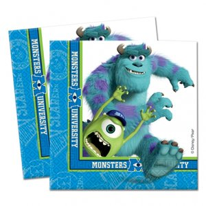 Monster university pappersservetter 2-lagers - 20 st