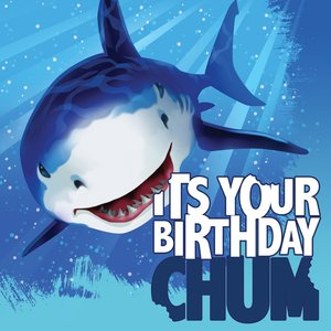 "Servetter Blå haj för födelsedagen ""Its your birthday - chum"" 3-lags - 16 st"